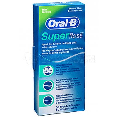 ORAL-B. HILO DENTAL SUPER FLOSS. 50 Uds.