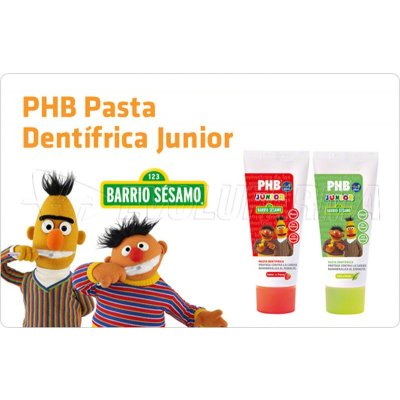 PHB JUNIOR. PASTA DENTÍFRICA SABOR MENTA. Tubo 75 ml.