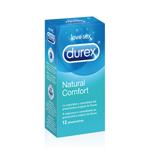 PRESERVATIVOS DUREX NATURAL PLUS EASY ON 6 U