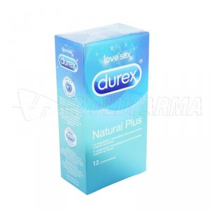 PROFILACTICO DUREX NATURAL PLUS EASY ON. 12 Uds.
