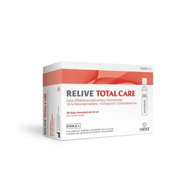 RELIVE TOTAL CARE GOTAS OFTALMICAS ESTERIL 20 MONODOSIS 0.4 ML