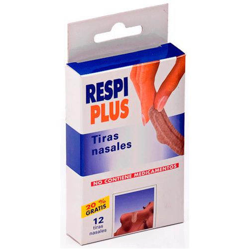 RESPIPLUS TIRA NASAL PIEL 12 U