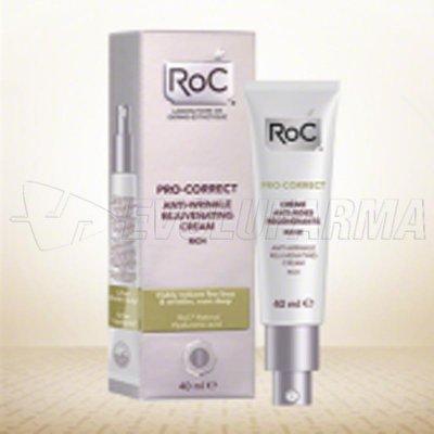 ROC PRO-CORRECT CREMA ANTIARRUGAS REJUVENECEDORA. Envase 40 ml.