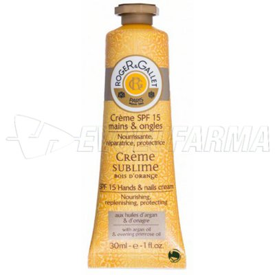 ROGER & GALLET CREMA SUBLIME MANOS Y UÑAS BOIS D ORANGE. 30 ml