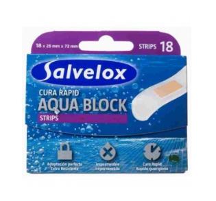 SALVELOX CURA RAPID AQUA BLOCK APOSITO ADHESIVO 72 X 25 MM 18 TIRAS
