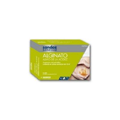 SANDOZ BIENESTAR ALGINATO ALIVIO DE LA ACIDEZ  10 ML 20 SOBRES