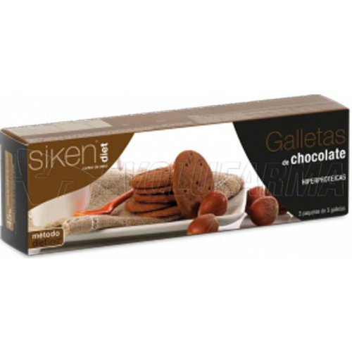 SIKEN DIET GALLETAS DE CHOCOLATE, 15 Galletas