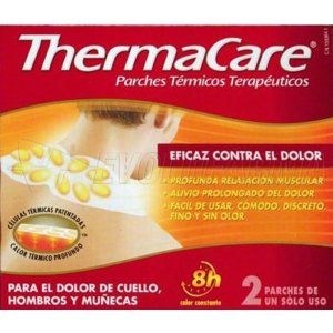 THERMACARE PARCHES TERMICOS CUELLO HOMBROS Y MUÑECAS. 2 Parches