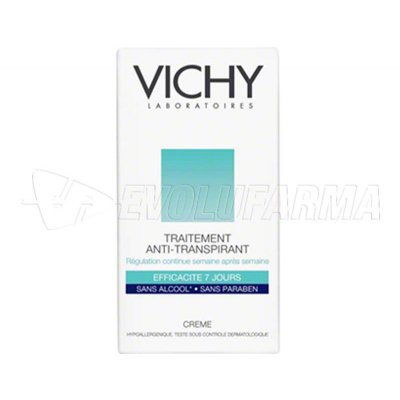 VICHY DÉODORANT TRATAMIENTO ANTI-TRANSPIRANTE 7 DÍAS EN CREMA. Envase de 40 ml.