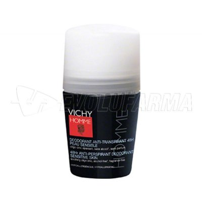 VICHY HOMME DESODORANTE PIELES SENSIBLES. Roll-On 50 ml.