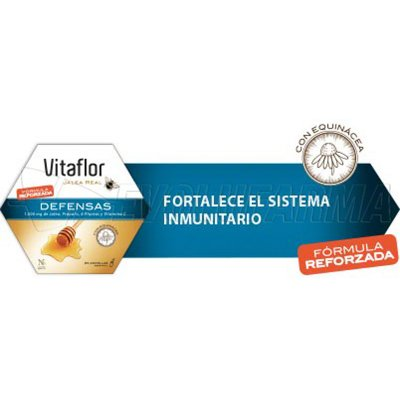 VITAFLOR JALEA REAL DEFENSAS AMPOLLA BEBIBLE 200 ML. 20 Ampollas