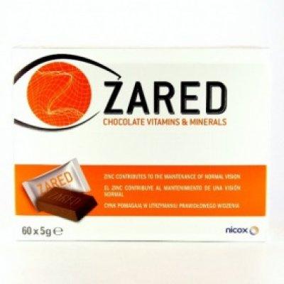 ZARED CHOCOLATE VITAMINS Y MINERALS 60 BARRITAS